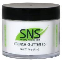 French White Glitter F3 (с блестками) 56гр.
